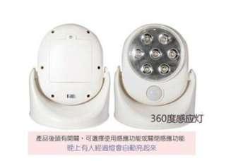 旋轉LED感應燈