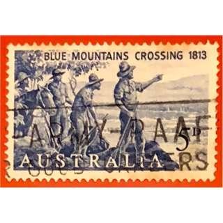 澳洲紀念到達藍山150週年的郵票