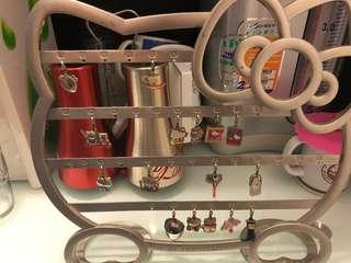 7-11 景品 擺設 Hello Kitty掛飾架 35th 週年 charms collection