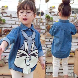 Girl Cartoon Rabbit Shirt
