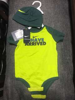 NIKE 2pc Set (onesie and cap)