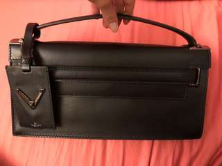 Valentino clutch with handle black colour