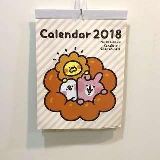 卡那赫拉2018月曆