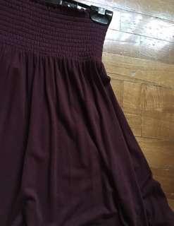 Brand new maroon H&M skirt