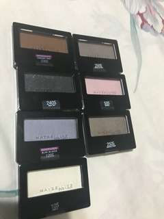 Maybelline eyeshadows authentic from US