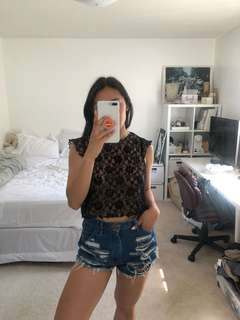 H&M Lace Blouse Small