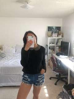 Zara Peter Pan Collar Sweater Small