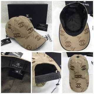 Topi CHANEL premium#1  , 3 warna bahan cotton tebal (mirip original) motif logo Chanel free box  Berat 400gr  H 210rb