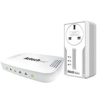 Used Aztech HL115EP and HL1250G powerline networking internet