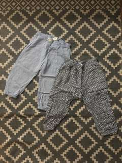 H&M baby soft lightweight pants bundle