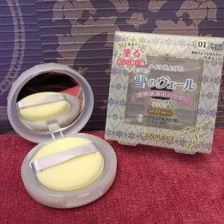 🇯🇵日本購入CANMAKE素肌雪花蜜粉餅 心機素顏 控油持妝🔖