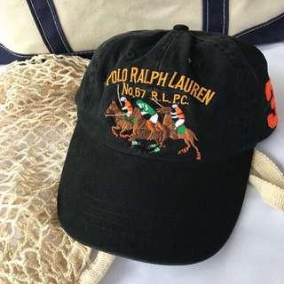 🏇POLO RALPH LAUREN賽馬刺繡復古老帽 男女皆可Vintage 歐美帶回古著