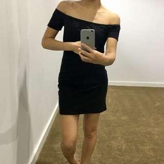 Off Shoulder Little Black Dress