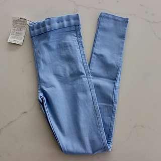 3.3 FIELD TRIP Sky Blue Jeggings / Denim Spandex Pant