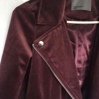Vera Moda velvet maroon jacket in XS