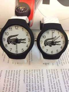 Lacosté couple watch with box