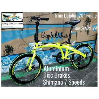 """TRINX Dolphin ★ 20"""" Foldable, Aluminum Road Bike ✩ Shimano 7 Speeds ✩ compact,  fits nicely into car boots! ✩ officially allowed on bus✓ and MRT✓ ✩ Brand New Bicycle"""