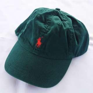 🇺🇸POLO RALPH LAUREN墨綠色紅馬復古老帽 男女皆可Vintage 歐美帶回古著