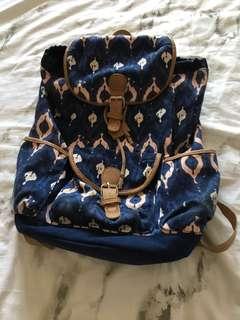 Drawstring printed backpack