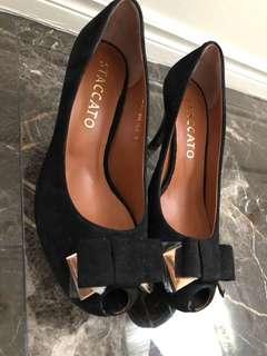NEW black suede heels
