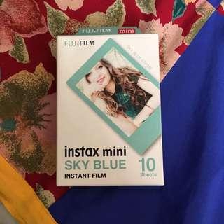 Sky blue instax film