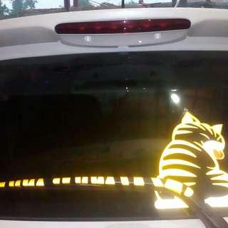 Sticker wipper kucing lucu