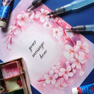 Floral Cards with Personalised Calligraphy