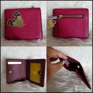 Short fossil butterfly wallet
