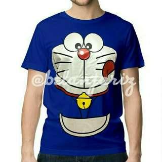 Kaos Distro Kartun Doraemon Face
