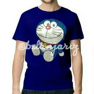 Kaos Distro Kartun Doraemon Santai