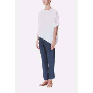 BTV Asymmetrical Tencel Top Ivory