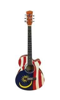 ✨LIMITED EDITION✨ MALAYSIAN FLAG GUITAR PRESIDENT BRAND