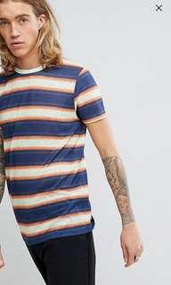 Asos Retro Strip T-Shirt