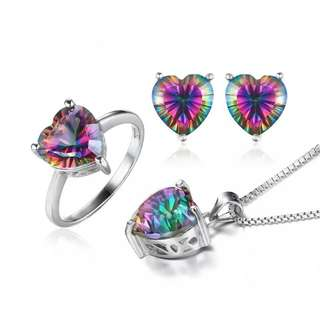 925 Sterling Silver with Natural Gems Stones