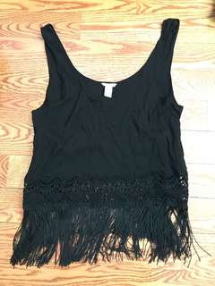 Black tank top summer shirt