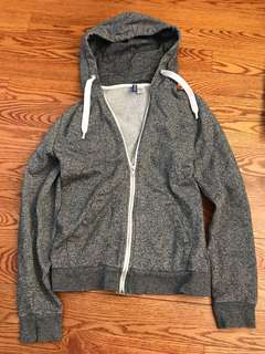 Grey sweater zip up