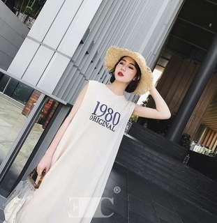 Basic sleeveless maxi dress