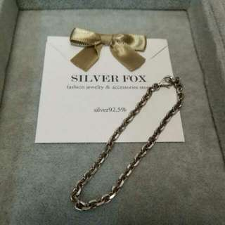🆕925 Silver Fox Bracelet