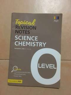 Science Chemistry - Topical Revision Notes