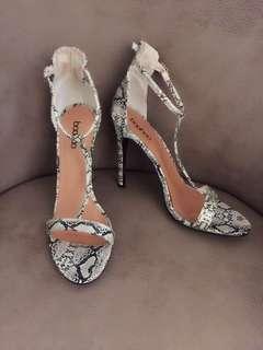 Snakeskin T Strap Sandals (8)