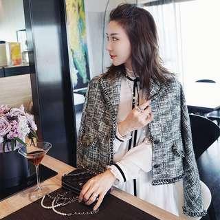 Chanel style short blazer