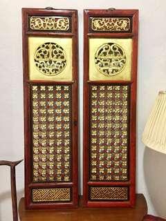 Antique Peranakan Wood Panels