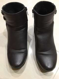 PU Faux Leather Ankle Winter Boots