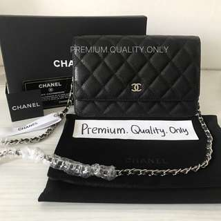 Real Snap Boutique Quality Wallet on Chain - black