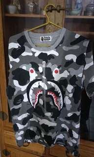 Bape Camo Shark Tee size L