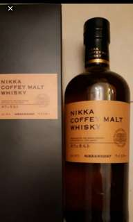 日本Nikka Coffey Malt威士忌700ml with box.