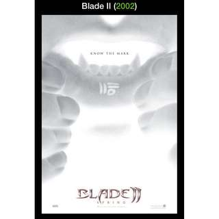 "Blade II (2002) Movie Poster ""Know The Mark"""