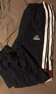 Vintage styled BLUE and RED adidas track pants
