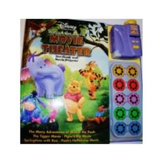 Disney Winnie the Pooh Movie Theater ~ Story Book & Movie Projector