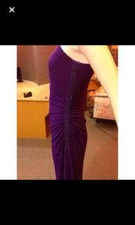 Robert Rodriguez slinky purple gown
